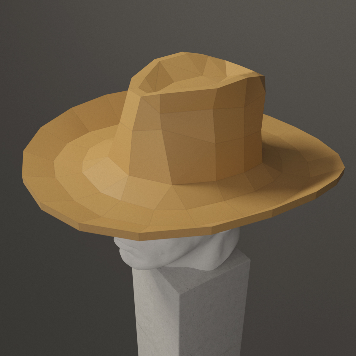 Origami Cowboy Hat Folding Instructions | 1200x1200