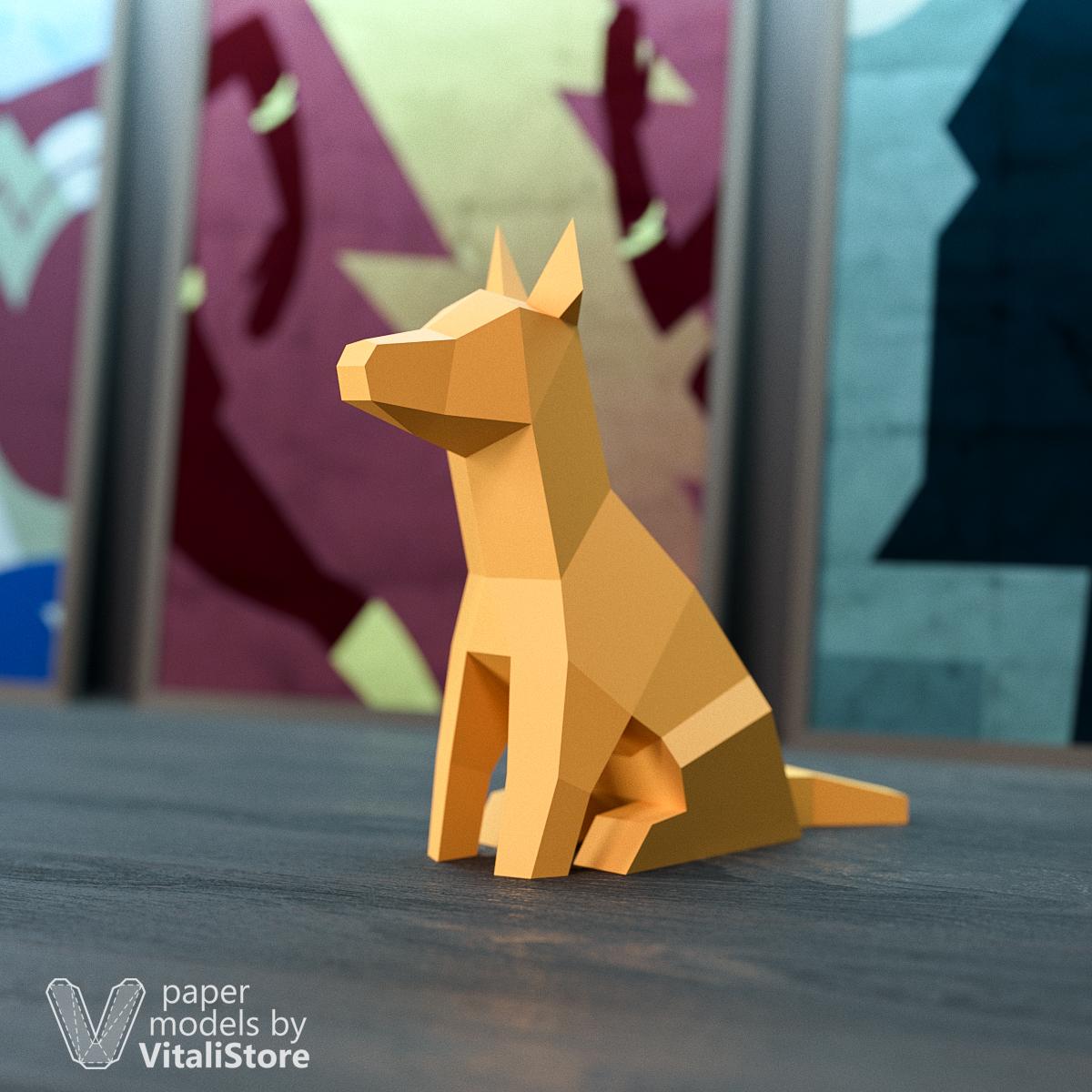 Dog Papercraft 3d Paper Sculpture Diy Gift Vitalistore
